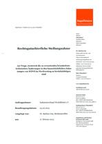 Gutachten Rechtsgutachterliche Stellungnahme Brandschutzanpassungen 1